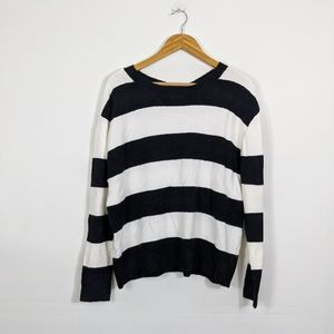 Halogen Atlantic Pacific Stripe Bow Back Sweater
